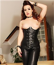 Lexie Candy in Leather Pants