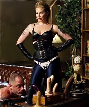 Slave is catapulted into an erotic world of strict & sensual femdom, executed with precision & finesse by one of the top dominatrices in the world!