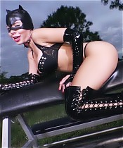 Kylie Rogue Dressed As Cat Woman Gives Masturbation Ins