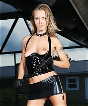 Alina Long in Black Latex