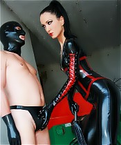 Cruel latex Mistress pics