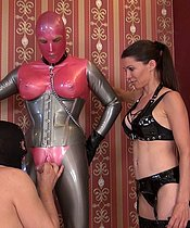 Mistress Susi - Fun With The Rubberdoll and The Bisexual Slave