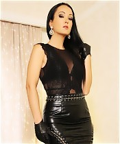 Cumstained New Leather Skirt