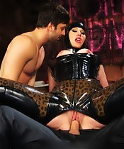 Maitresse Madeline's Hotel Divine has been busy! New toy Rick begs to cum from intense anal fucking while Maitresse uses gimp Pistol for her pleasure!